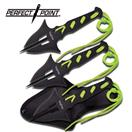 """PERFECT POINT MODEL PP-079-3B, 3 PC THROWING KNIVES, 6.5"""" OVERALL LENGHT, 4MM ST"""